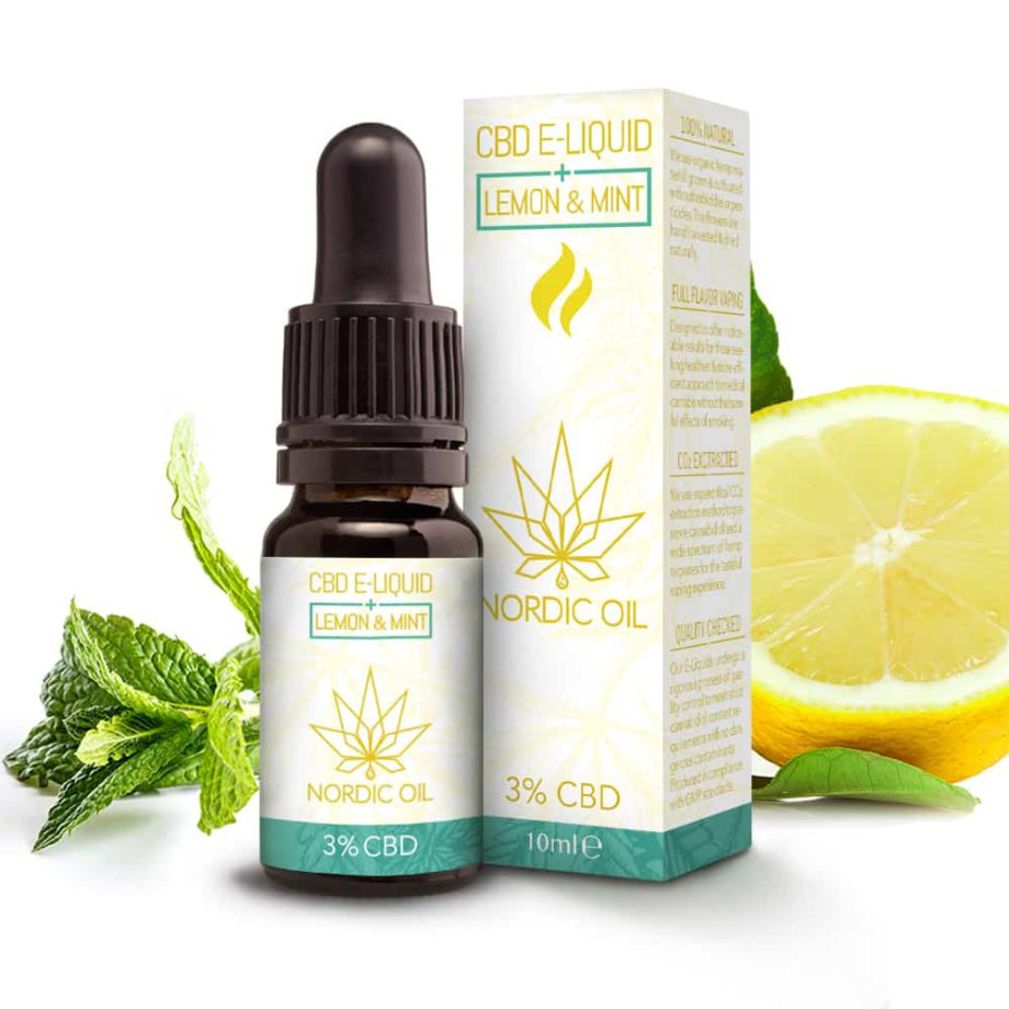 CBD E-juice Citron och Mint (3% / 300mg CBD)