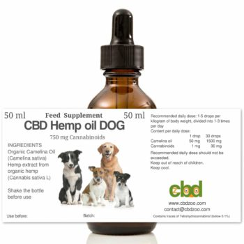 CBD Hemp oil DOG, 50 ml