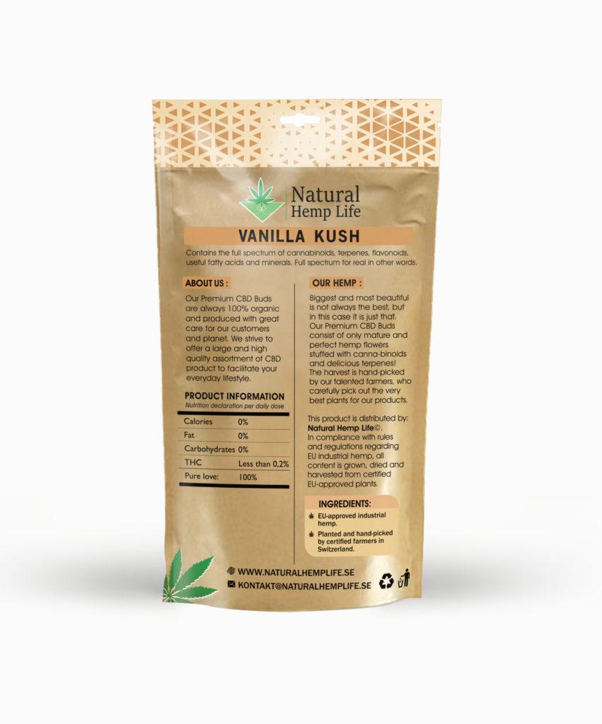 Vanilla Kush – CBD Premium Buds