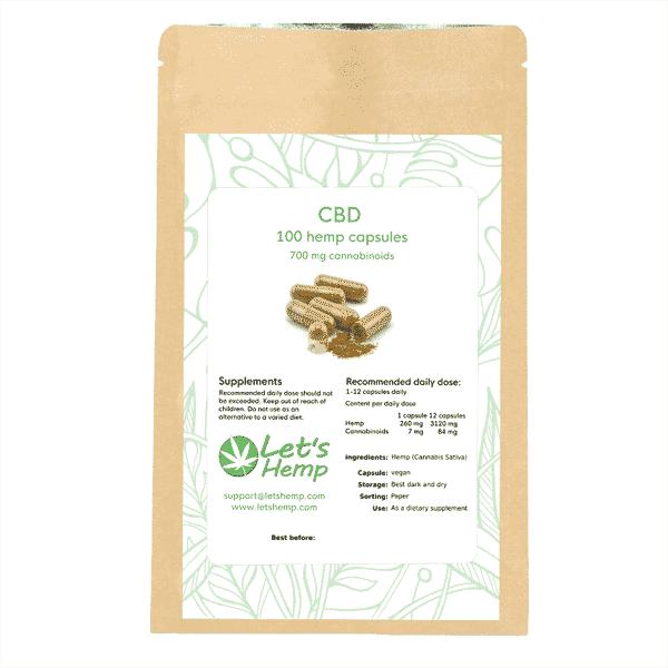 Hampakapslar 100 st, 700 mg Cannabinoider